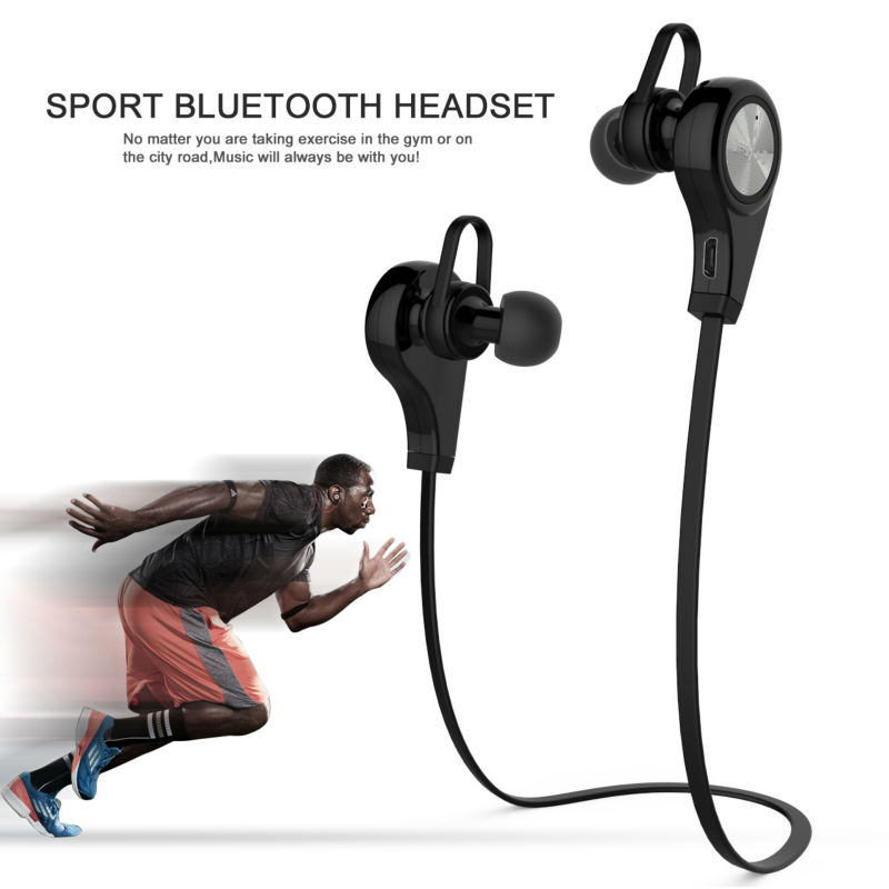 New Stereo Music Wireless earphones Bluetooth headphones with Mic support Android and IOS for Apple phone<br><br>Aliexpress
