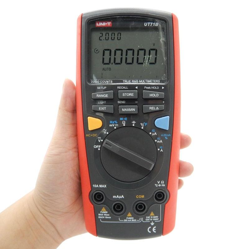 UNI-T UT71B LCD Digital Multimeter Volt Amp Ohm Temp Capacitance Inductance USB Interface Double Backlight 100 Data Logging<br><br>Aliexpress