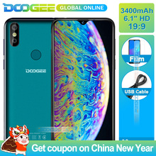 "DOOGEE Y8 3 GB RAM 16 GB ROM Android 9.0 Smartphone 6.1 ""FHD 19:9 Affichage 3400 mAh MTK6739 Quad core 4G LTE Mobile Waterdrop Écran(China)"
