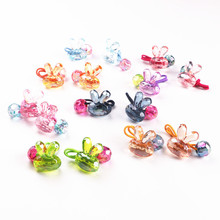 GG & MM Export Japanese children hair ornaments jewelry colorful rabbit oblique round round ball cartoon hair band hair rope(China)
