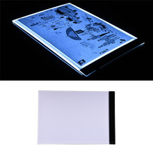 Hot Ultrathin A4 Pratical 4mm Drawing Copy Board Animation Copy Tracing Pad Board LED Light Box Without Radiation fast ship