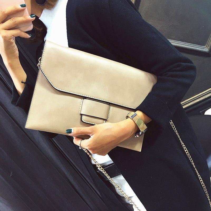 Vintage Womens Envelope clutch bag PU leather women Shoulder messenger bag chain crossbody bags bolsa feminina Womens Clutches<br><br>Aliexpress