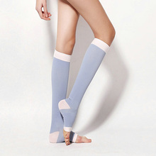 Women Venous Varicose Medical Health Stockings Toe Thin Legs Sleep Stockings Pressure Medias Meias Bas Botas Femininas 3 Colors