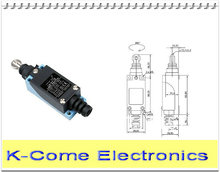 Machine Position Control Micro Limit Switch ME-8112 Parallel Roller Plunger Actuator Mini Limit Switch Free Shpping
