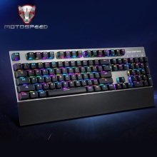 Motospeed CK108 Mechanical Keyboard USB Wired Gaming Keyboard Blue Switch with 18 RGB Backlight Mode for Desktop Computer