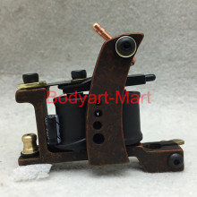 2016 New Professional Tattoo Machine 10 Warps Coils Cast Iron Red Tattoo Gun For Beginner Shader Liner GAM09-B#