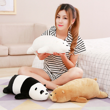 1pcs 19inches 50cm Bare brown bear white bear panda bear doll plush toys funny eiderdown cotton pillow valentine's day gift(China)
