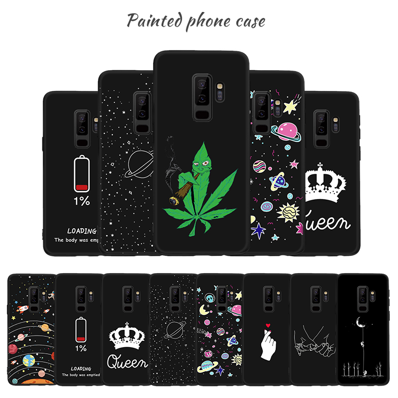 Soft TPU Case For Samsung Galaxy J4 J6 Plus J7 J8 2018 S8 S9 Plus Note 8 9 Silicone Pattern Cover For Samsung J4 J6 Case A50 A30(China)