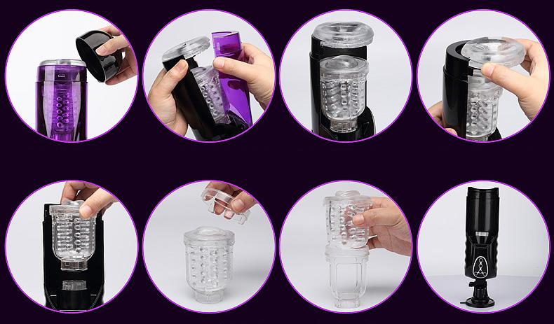 Automatic Telescopic Rotating Voice Machine Male Masturbator Pocket Pussy Vibrator Sex Toys For Men Hands Free Masturbation Cup 14