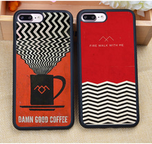 TV Series Twin Peaks Printed Protective Soft Rubber Mobile Phone Case For iPhone 6 6S Plus 7 7Plus 5 5S 5C SE 4S Capa Para Cover