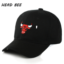 [HEAD BEE] 2017 Cotton Baseball Cap Adult Embroidery Cow Snapback Caps High Quality Hip Hop Hat for Men and Women