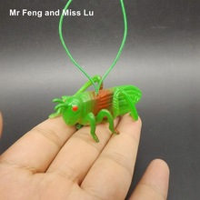 Simulation Locust Grasshopper Insect Model Toys Soft Material Tricky Props(China)