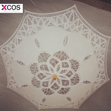 Buy Ivory Lace Manual Opening Wedding Umbrella Bride Parasol Umbrella Accessories Wedding Flower Girl Bridal Shower Umbrella for $12.78 in AliExpress store