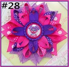 free shipping 50pcs4.5'' bottle cap loopy hair bows Flower hair bow  Loopy hair clips  Girls hair clippied