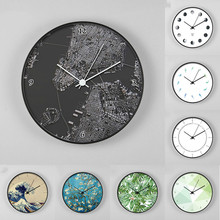 New Europen Style Art Wall Clocks Home Decorations Modern Simple Wall Clock Living Room Mute Fashion Modern Watches