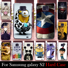For Samsung Galaxy S2 i9100 Hard Plastic Mobile Phone Cover Case DIY Color Paitn Cellphone Bag Shell  Shipping Free