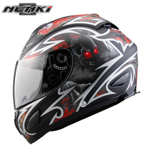 NENKI Motorcycle Full Face Helmet Chopper Cruiser Street Bike Motorbike Riding Racing Helmet DOT With Clear Lens