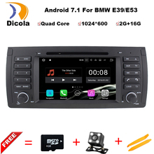 "7"" HD Digital Quad Core 64bit 16GB+2G RAM Android 7.11 Multi Touch Screen Car DVD Player GPS for BMW 5 Series / X5 E39 E53"