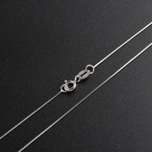 Real 925 Sterling Silver Necklaces Slim Thin Snake Chains Necklace Women Chain Kids Girls Jewelry