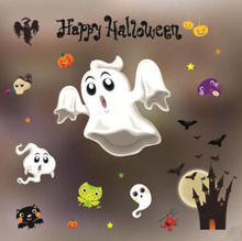 Halloween cartoon decoration wall stickers glass stickers paste shopping mall Bar KTV static Mirror Window Stickers Home Deco