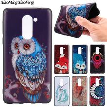 3D Relief TPU Soft Back Case for Huawei Honor 6X Case Cover Silicone Soft Cover For Huawei Honor 6X Fashion Phone Case Owl Cover(China)