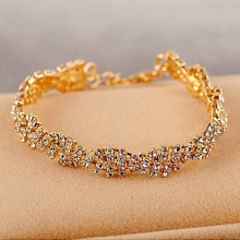 Knock jewelry wholesale fashion delicate full rhinestone bling bracelet female bracelet women gold  greek  bracelet