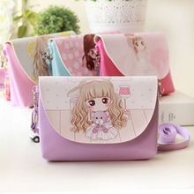 Summer Mini Children Bag Princess Cartoon Bags Kids Girls Purses Long Strap Single Shoulder Messenger Bag FA$B
