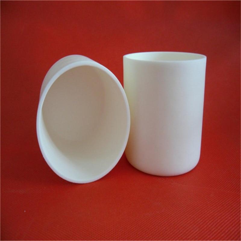 dia80x80mm 300ml  99.5% alumina crucible cylindrical corundum crucible /Cylindrical ceramic refractorye crucible<br><br>Aliexpress