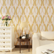 Cheng shuo Contemporary contracted wind solid geometry stripe non-woven wallpaper sitting room bedroom full shop TV wallpaper