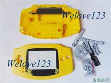 For Pikachu/Pokemon/Mario - OEM Yellow Complete Case Casing for Game Boy Advance GBA Console Housing