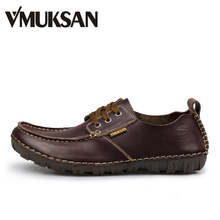 Buy VMUKSAN Brand Men Shoes High Split Leather Mens Shoes Casual Brown Fashion Mens Casual Shoes for $19.99 in AliExpress store