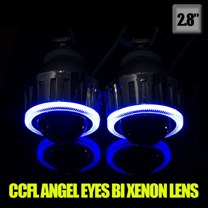 2.8 inch  35W hid xenon projector lens kit with CCFL angel eyes for h7 h4 h11 9005 HB4 + one year guarrantee for auto car light<br><br>Aliexpress