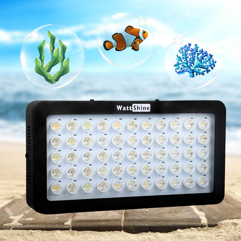 Aquarium pets lighting Aquatic animals 165W Dimmer light Double control Blue White Growth chip Freshwater Seawater Fish Coral (15)