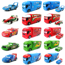 Disney Pixar Cars Lightning Mcqueen King Chick Hicks Mack Launcher Truck Metal Toy Car Gift 1:55 Loose Brand New & Free Shipping(China)