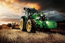 machine tractor farm industrial farming construction harvest KA319 room home wall modern art decor wood frame poster