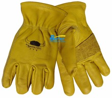 6 Pairs Safety Glove Cow Grain Leather Driver Work Gloves(China)