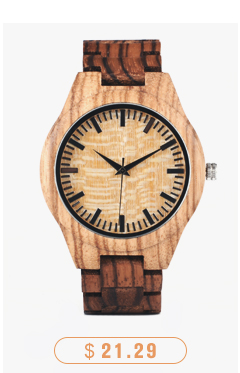 CnwinTech Bamboo Wood Watches Men Casual Clock - BOBO BIRD 10
