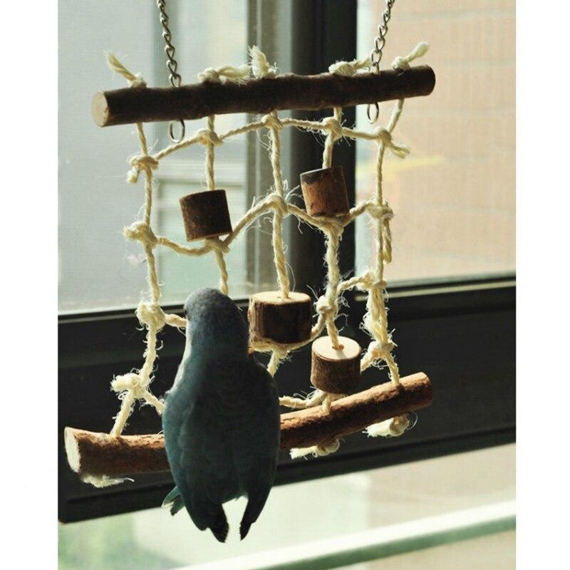 Best Selling Birds Hemp Rope Climbing Net Pet Parrot Chew Toy  Budgie Parakeet Cockatiel Hanging Swing Ladder 12