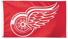 Detroit Red Wings Large Outdoor Banner Flag 3' x 5'  Fan Flag Banner brass metal holes Flag