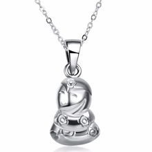 Hot style Chinese zodiac 925 sterling silver jewelry sterling silver snake pendant necklace Ms. birthday gift(China)