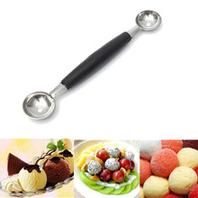 Stalinless Steel Double-end Melon Baller Scoop Fruit Spoon Ice Cream Sorbet cozinha Cooking Tool kitchen accessories gadgets