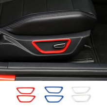MOPAI New ABS Seat Adjustment Button Decoration Ring for Ford Mustang 15+ 3 Colors(China)