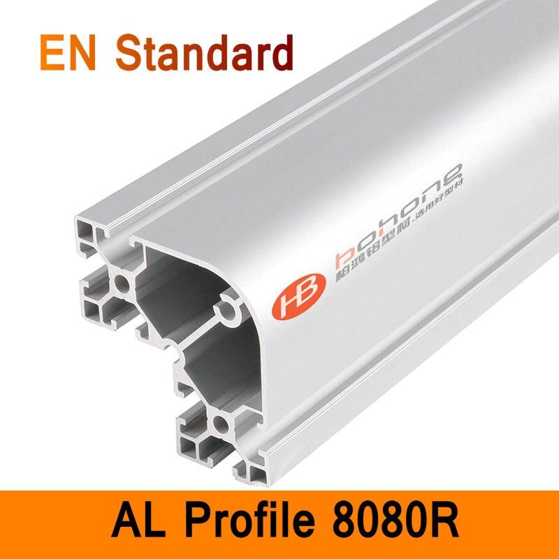 8080R Aluminium Profile EN Standard DIY Brackets Aluminium AL Extrusion CNC 3D DIY Printer Frame Round Aluminum Frame T Slot<br>