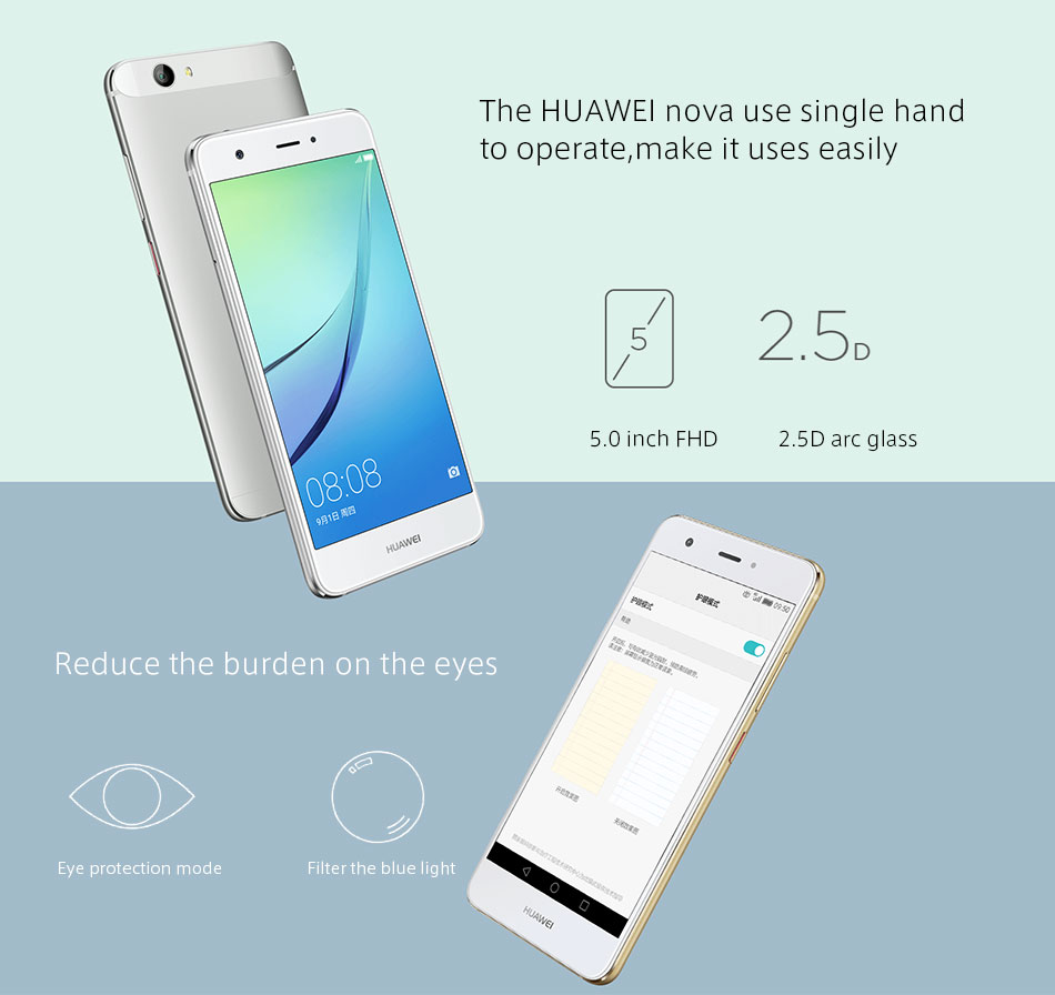 image for Original Huawei Nova 4G LTE Mobile Phone 3GB 32GB MSM8953 Octa Core 2G