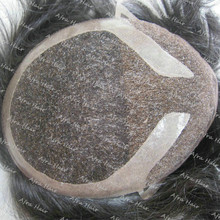 Mens Toupee Natural Toupee Soft Lace Hair Replacement System H038