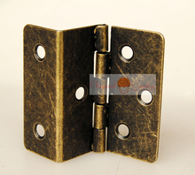10 sets of Triple Hinges for Cabinet Trunk Jewelry Box Storage box Furniture Hardware Door Hinges Imitation Bronze
