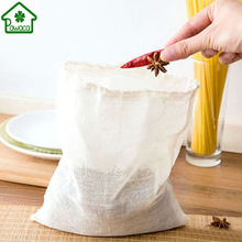 20Pcs Multifunctional Cotton Drawstring Strainer Reusable Chinese Medicine Filter Bag Kitchen Soup Bag Tea Bags Healthy 3 Size