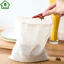 20Pcs Multifunctional Cotton Drawstring Strainer Reusable Chinese Medicine Filter Bag Kitchen Soup Bag Tea Bags Healthy 3 Size(China)