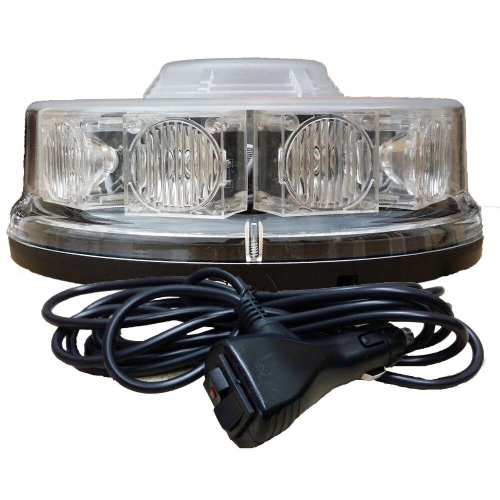 10 LED LED BEACON Magnetic / Bolt Recovery Flashing Warning Strobe Light lightbar Amber<br>