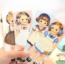 30Pcs/set Kawaii Doll Girl series bookmark Funny cartoon Book marks Book holder bookband Students' gift prize